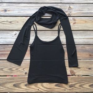 Tops - French designer tank with matching skinny scarf